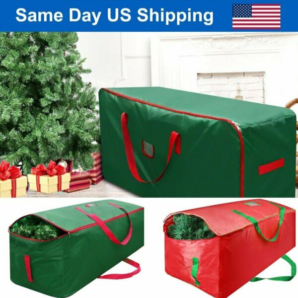 Green Christmas Tree Storage Bag Heavy Duty Holiday Up to 9 Ft. Trees w Handles