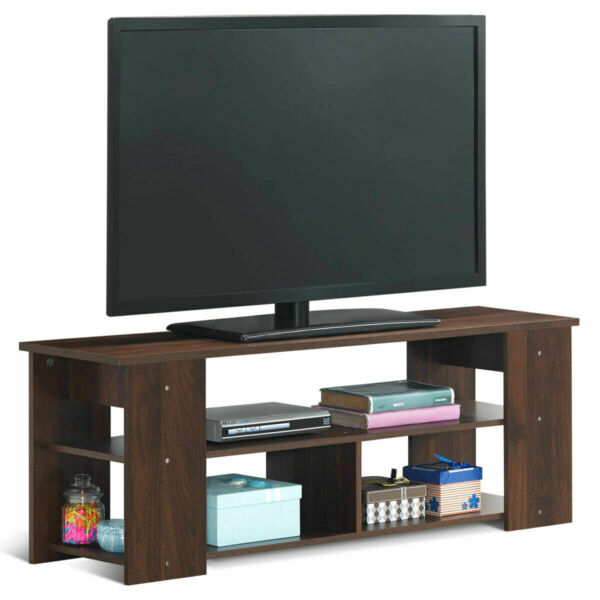 TV Stand Entertainment Media Center Console Shelf Cabinet Brown