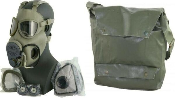 Military Czech Gas Mask M10M Hydration Straw Filters Bag Emergency Survival NBC $29.99
