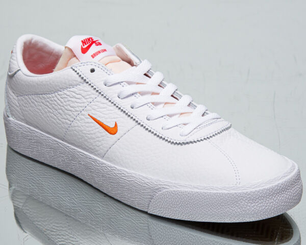Nike SB Zoom Bruin Men's White Orange Casual Leather Lifeastyle Sneakers Shoes