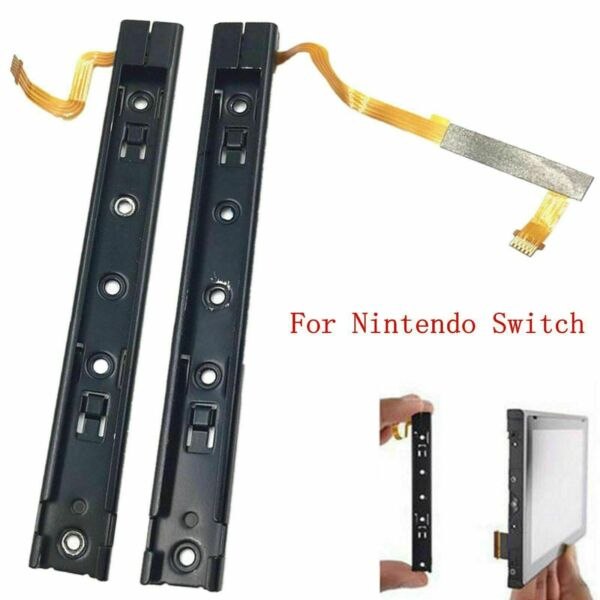 Left Right Set Slider sliding rail with Flex Cable for Nintendo Switch Console