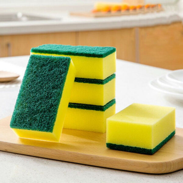 10 20PCS Sponge Eraser Cleaning Pads Dish Washing Stains Removing Kitchen