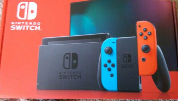 Nintendo Switch Console with Neon Red  Neon Blue Joy‑Con 32GB HAC-001(-01). New