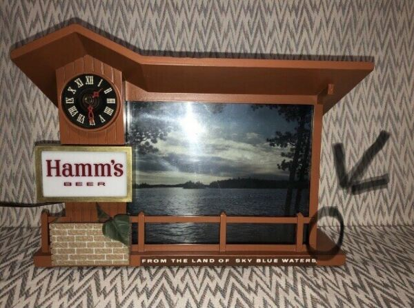 REPLACEMENT FENCE ONLY Hamms Beer Sign Clock Dusk to Dawn Sunrise Sunset