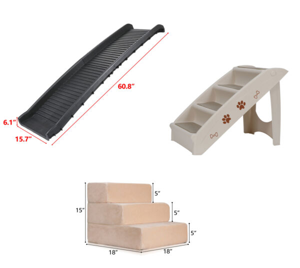 Multiple Sizes Pet Dog Stairs Ramp Climb Ladder Light Weight Car Home Portable $35.99
