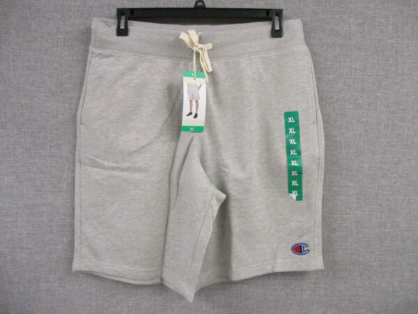 NWT Men's Champion Performance French Terry Athletic Shorts w Pockets- Grey XL