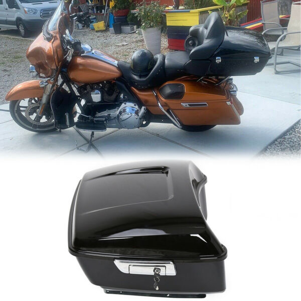 Black Harley Tour pak pack trunk for 2014 2020 touring Road King Electra glide $190.00