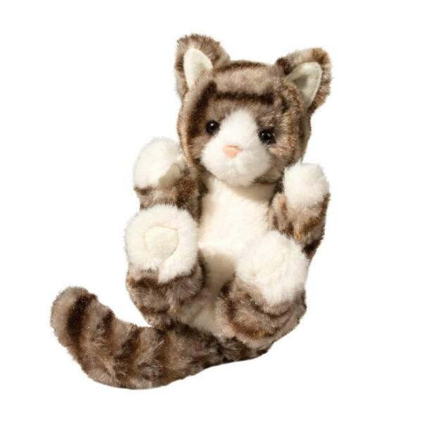 Plush TABBY CAT LIL' HANDFUL Stuffed Animal - by Douglas Cuddle Toys - #4435 $10.95
