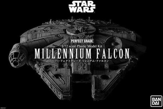 Bandai Star Wars Perfect Grade 172 Scale Millennium Falcon