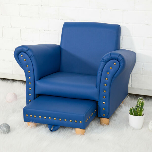 Kids Sofa Armrest Chair Couch w/ Ottoman Toddler Birthday Gift Home Furniture