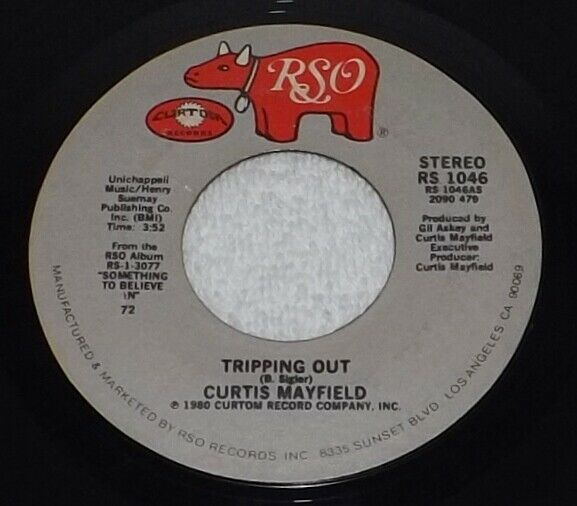 Curtis Mayfield - Tripping Out  Never Stop Loving Me 1980 Mod Soul RSO RS 1045