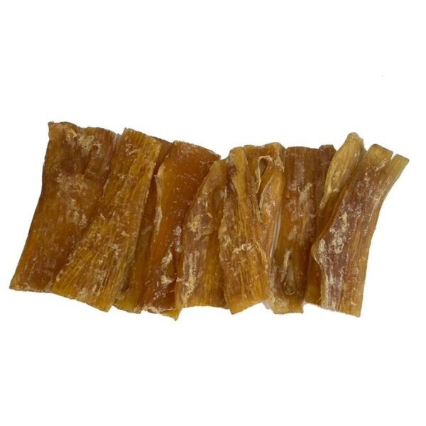 6 inch Backstrap Chews for Dogs 10 or 25 Count Natural Beef Straps Dog Sticks $15.99