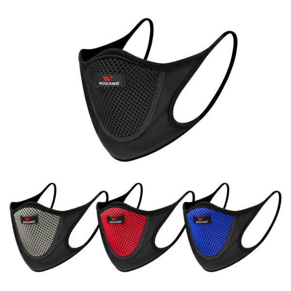 Cycling Mask Breathable Bike Face Mask Motorcycle Washable Mouth Cover Anti Dust $9.02