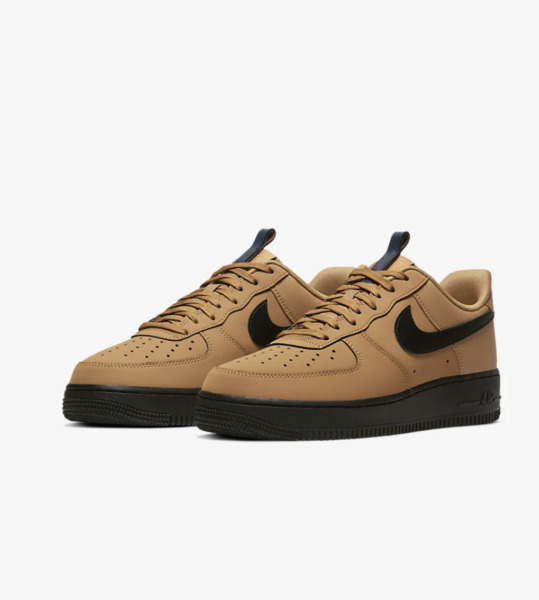 Nike Air Force 1 '07 Casual Shoes Wheat Black Midnight Navy BQ4326-700 Men's NEW