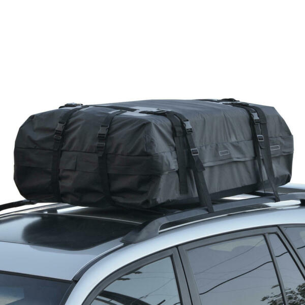 Motor Trend Cargo Carrier Bag Rooftop for Cars SUVs Travel Luggage Road Trips $50.99