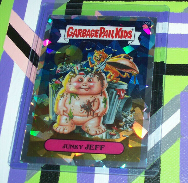 2013 GARBAGE PAIL KIDS Series 1 CHROME Atomic REFRACTOR 22a Junky JEFF Rare HTF