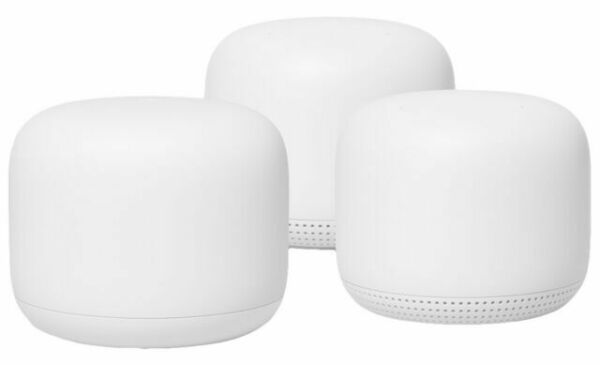 Google Nest Wifi System with Google Assistant 3-Pack -GA00823-US Snow
