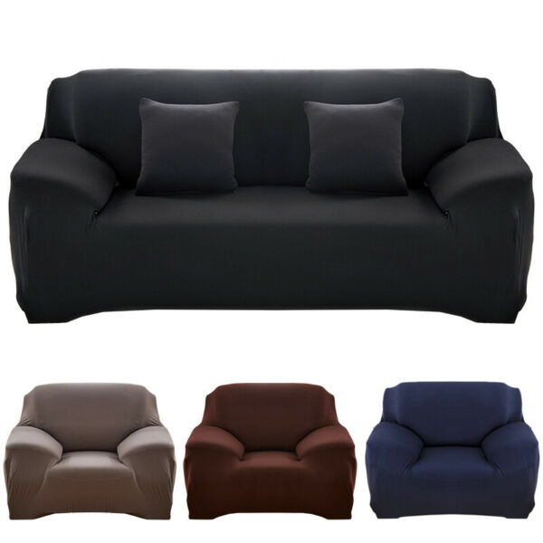 Solid Color Sofa Cover Stretch Seat Couch Covers Love Seat Funiture Slipcover US $14.55