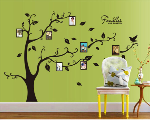 Removable Vinyl Wall Decal Family pictures frame tree Sticker Home DIY Decor $10.79