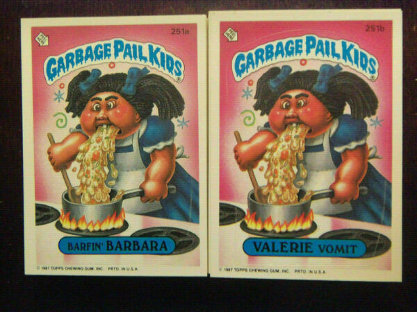 1986 Topps Garbage Pail Kids Series 7 Complete Numerical Set NM Mint Condition