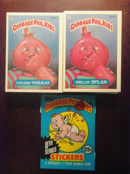 1987 Topps Garbage Pail Kids Series 8 Complete VARIATION Set NM Mint Condition