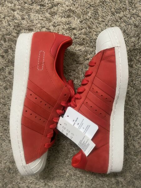 Adidas Superstar 80s CG6263 Scarlet Raw Basketball Sneakers Shoes Men(Size 11)