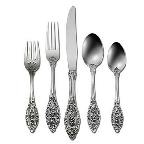 Oneida Grand Majesty 18 10 Stainless 5pc. Place Setting Service for One