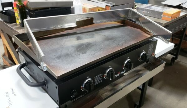 36quot; Blackstone Griddle windscreen stainless for rear drain
