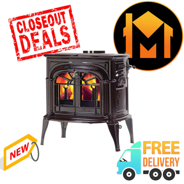 Vermont Castings Intrepid Transition Majolica Brown Wood Burning Stove CLEARANCE