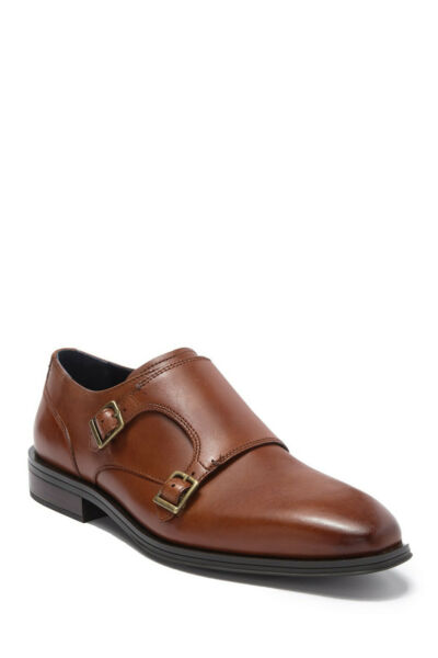Cole Haan Men#x27;s Grand Double Monk Strap Loafer Brown $69.99