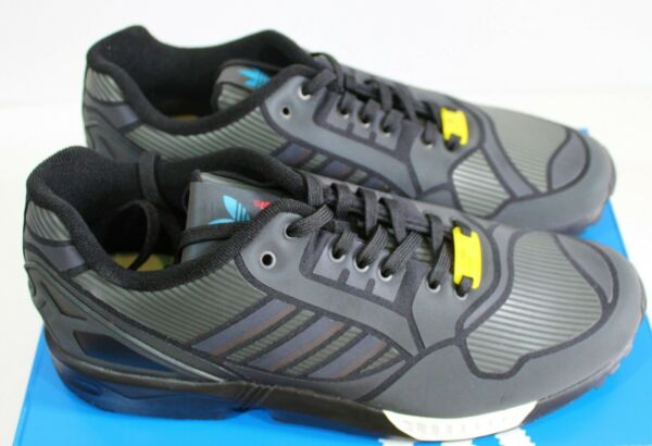 Adidas ZX Flux Sneakers Trainers 3M B54177 Black New Men's - Size 12