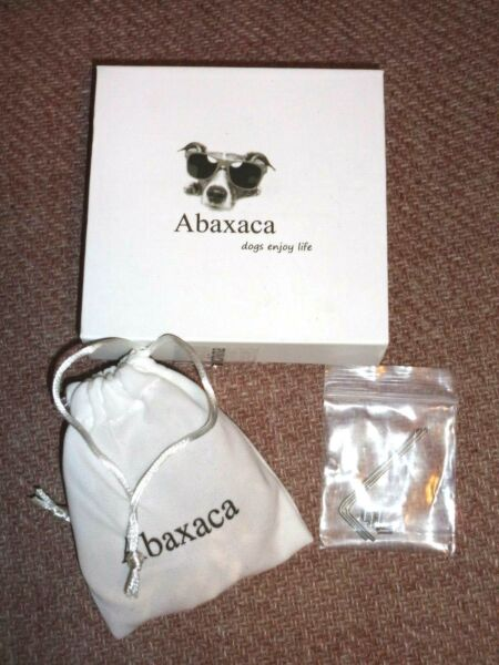 Abaxaca Luxury Dog Collar Stainless Steel 18K Gold 14 Inch New $17.95