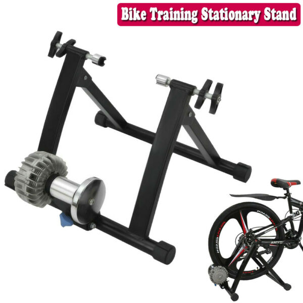 Bike Trainer Stationary Bicycle Cycle Rack Stand Indoor Exercise Training Bench $113.99