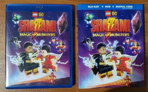 Lego DC Shazam Magic and Monsters Blu Ray and DVD 2020 No Digital