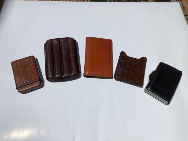 Leather Goods Wallets Money Clip Cigar Holder Top quality Collection of pieces