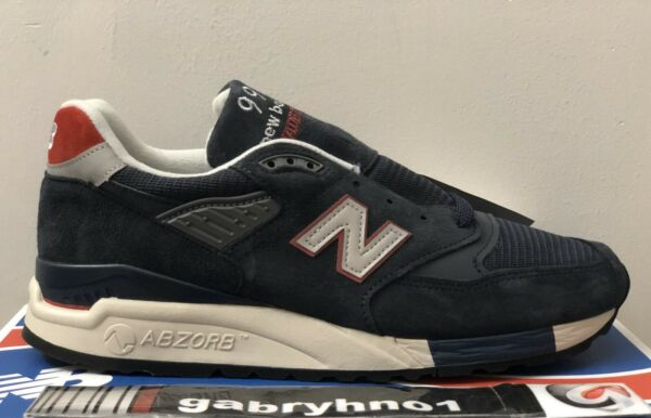 """New Balance x J Crew 998 """"Navy"""" M998JC1 Mens Size 8 Made In USA Running Shoes"""