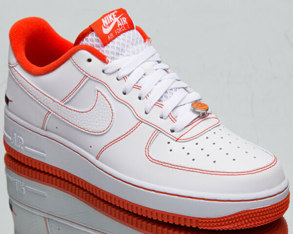 Nike Air Force 1 '07 LV8 EMB Rucker Park Men's White Team Orange Black Shoes