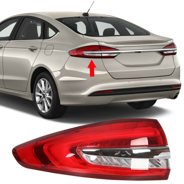 fits 2017 2018 2019 Ford Fusion Rear Lamp Tail Light LED Outer Drive LH Left $120.55