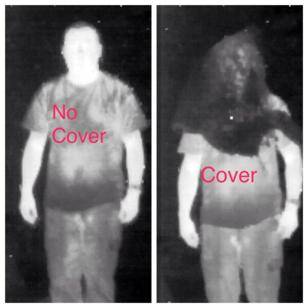 Thermal Imager Blocking Infrared Camo Net Head Rifle Wrap Ghillie Suit Sniper
