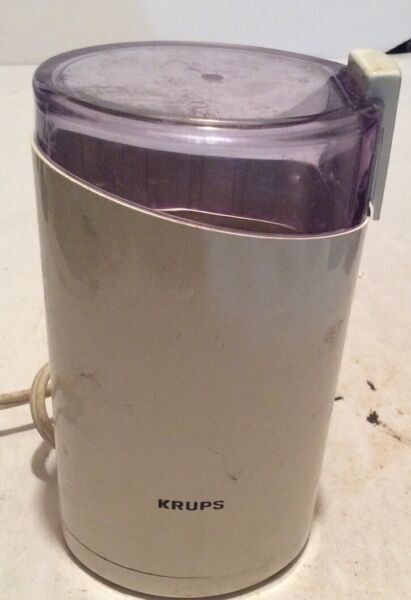 KRUPS COFFEE GRINDER 203 WHITE AND ONE TOUCH