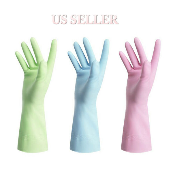 Washing Gloves Kitchen Long Waterproof Dish Cleaning Gloves Rubber Latex Protect