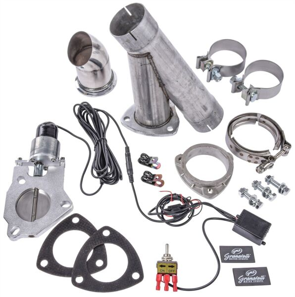 Granatelli 303522 Single Electric Exhaust Cutout System 2.25 Tube Diameter Round