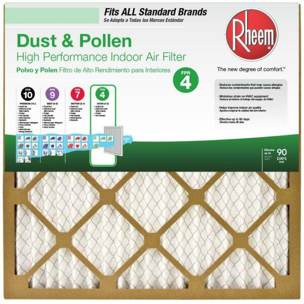 Rheem 16 in. x 25 in. x 1 in. Basic Household Pleated FPR 4 Air Filter 12 pack $39.99