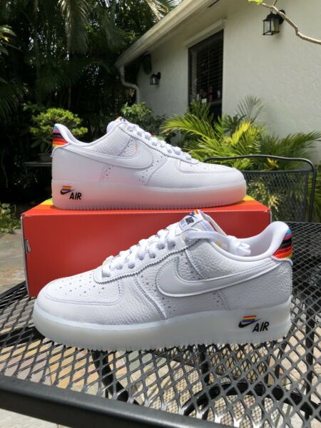 Nike Air Force 1 Low White Be True CV0258-100 Multi - Size 9.5-10 Men's - NEW