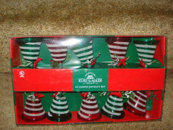 Bell Lights Glass 10 count 5 red 5 green ul0713 505 $19.55