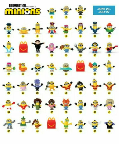 2020 McDONALD'S Minions Rise of Gru Dreamworks HAPPY MEAL TOYS Choose Toy or Set
