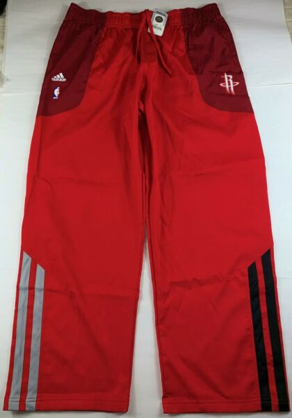 RARE/HTF Authentic Adidas Houston Rockets NBA Warm-Up Pants Red 2XL NEW w/ Tags