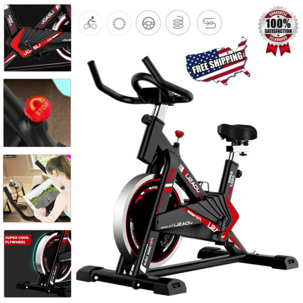 Pro Fitness Stationary Bike Indoor Cardio Exercise Home Gym Sport Cycling Workou $205.99