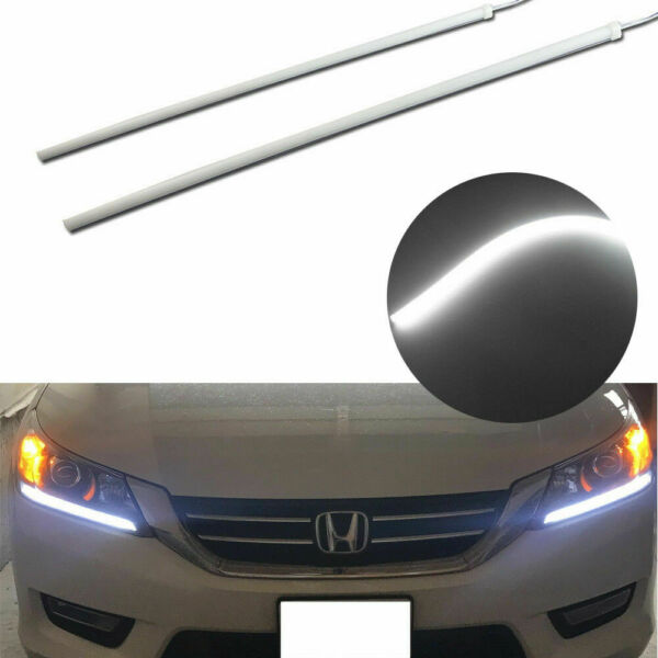 45cm 6000K White LED DRL Strip Light Headlight Retrofit For 13-15 Honda Accord