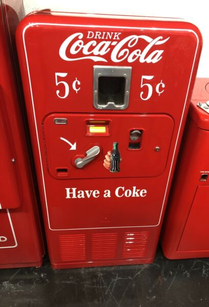 Original 1950#x27;s Antique COKE MACHINE Coca Cola RESTORED Coin Op Vending VMC 33